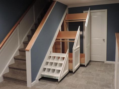 8 Most Creative Cupboard Design Ideas For Area Under Stairs