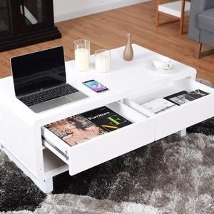 Pearly Luxe Bluetooth Table Modern Coffee Tables Coffee Table