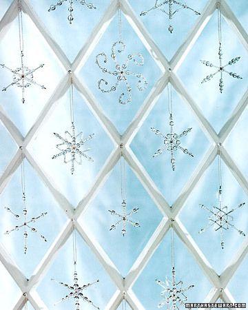 DIY beaded snowflakes...