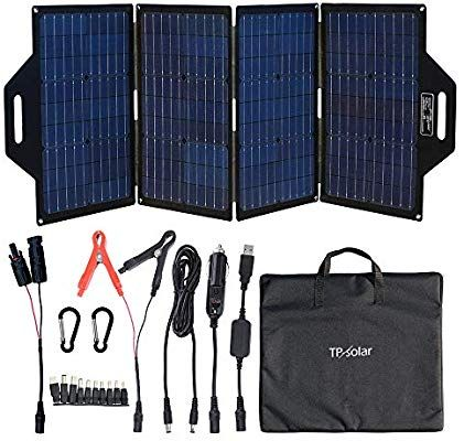 Amazon Com Tp Solar 120 Watt Foldable Solar Panel Battery Charger Kit For Portable Generator In 2020 Portable Solar Generator Solar Panel Battery Portable Generator