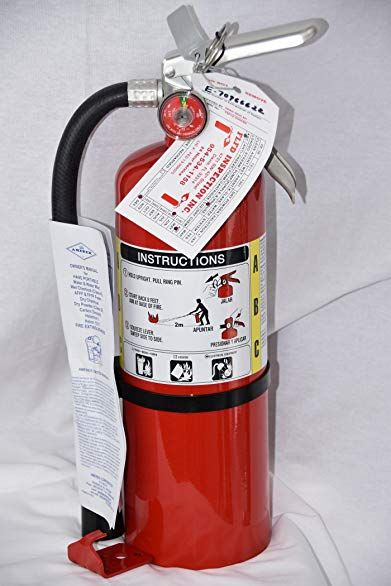 Lot Of 1 5 Lb Type Abc Dry Chemical Fire Extinguishers With 1 Wall Bracket And 1 Certification Tag Ready For Fire Inspections 3a 40 Bc Rating Revi Fire Extinguisher Fire Extinguishers Fire