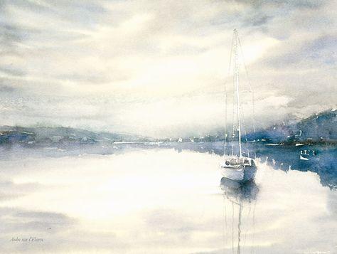 Philippe Vandenberghe Kust Van Bretagne Peinture Aquarelle