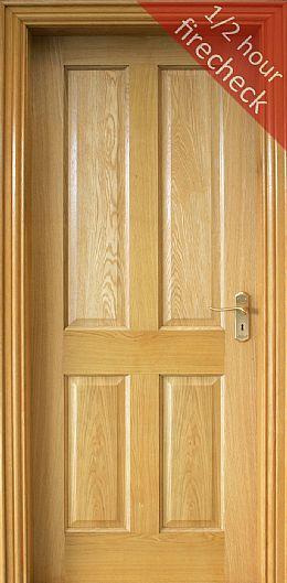 Firecheck Doors From The Door Store White Paneling Oak Doors Doors Interior