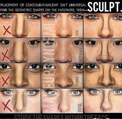 Correct Nose Contour Nose Makeup Nose Contouring Contour Makeup