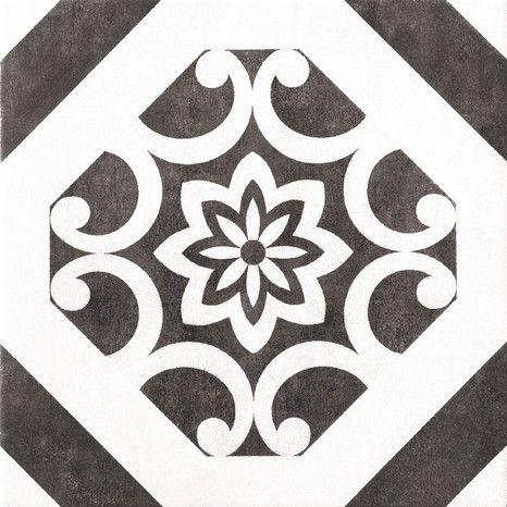 Carrelage En Gres Emaille Noir Pour Sol Interieur L 32 5 Cm L 32 5 Cm Ep 8 Mm Brico Depot Carrelage Sol Interieur Interieur Art Deco Art Deco