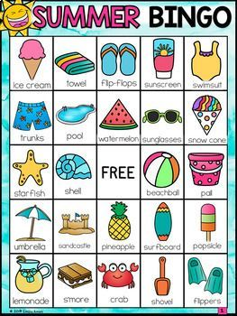 Summer Bingo End Of The Year With Images Summer Bingo