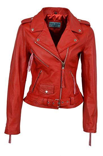 Smart Range Ladies Brando Classic Motorcycle Genuine Cowhide Leather Jacket Mbf Newforbuy Leather Jacket Jackets Motorcyle Jacket