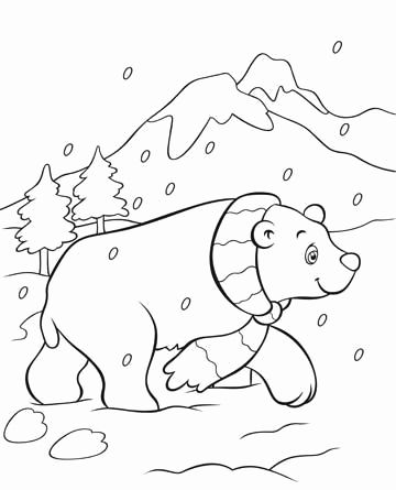 Polar Bear Coloring Pages Awesome Polar Bear Coloring Page This Free Polar Bear Coloring In 2020 Polar Bear Coloring Page Bear Coloring Pages Christmas Coloring Pages