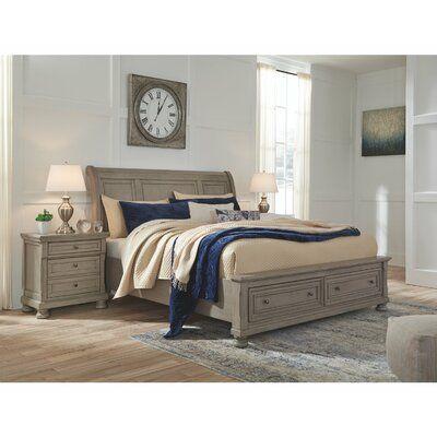 fuente sleigh headboard alcott hill size queen in 2020 bedroom set light gray 5 piece black dresser vanity