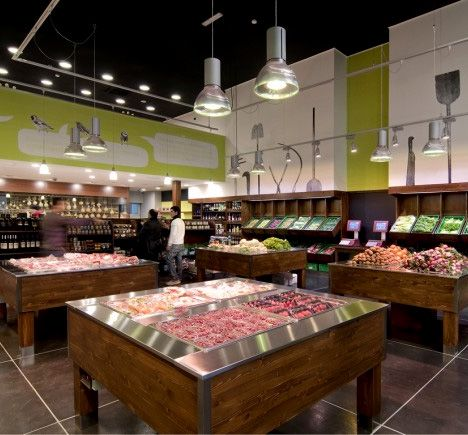 Idea Natura Sustainable Local Food Store by CBa Sleek design