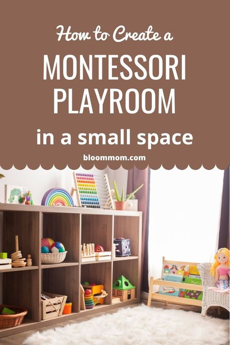 Struggling with finding space to create a beautiful playroom? Here are some AMAZING tips to help you create an engaging Montessori playroom for you baby or toddler even if it's just in a small corner of your living room! Living Room Playroom, Small Playroom, Toddler Playroom, Playroom Organization, Playroom Design, Playroom Decor, Baby Corner, Small Corner, Montessori Toddler Rooms