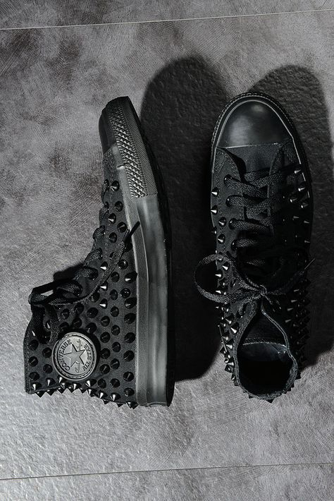 Original Converse Spike Studded Sneakers Black 6KE Virginblak