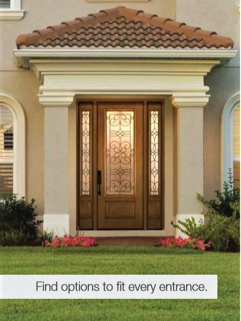 Our Therma Tru Fiber Glass Doors Offer The Authentic Look Of Real Wood With The Low Maintenance Benefits O House Windows Door Window Replacement House Entrance