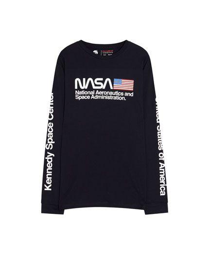 T Shirt à Manches Longues Nasa Pull Bear Adidas Jacket Athletic Jacket Sweatshirts