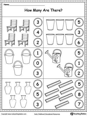 Free Count The Objects In Each Group Worksheet Practice Counting And Identifying Preschool Math Worksheets Kindergarten Math Worksheets Kindergarten Math Worksheetfun count and match
