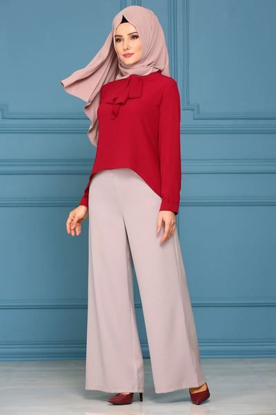 Modaselvim Trousers Pants Msm031 Beige Mode Hijab Mode