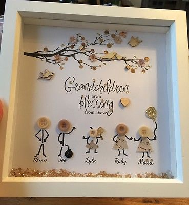Old Fashioned Grandchildren Frames Gift - Custom Picture Frame Ideas ...