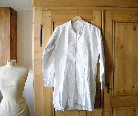 6affa97b88 antique french nightshirt mens linen nightshirt.  42.00