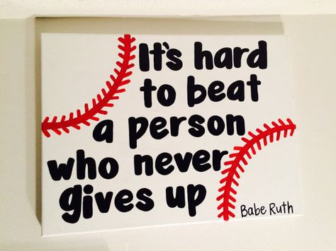 Babe Ruth Baseball Canvas Quote // Ready to by 4thSisterCanvas
