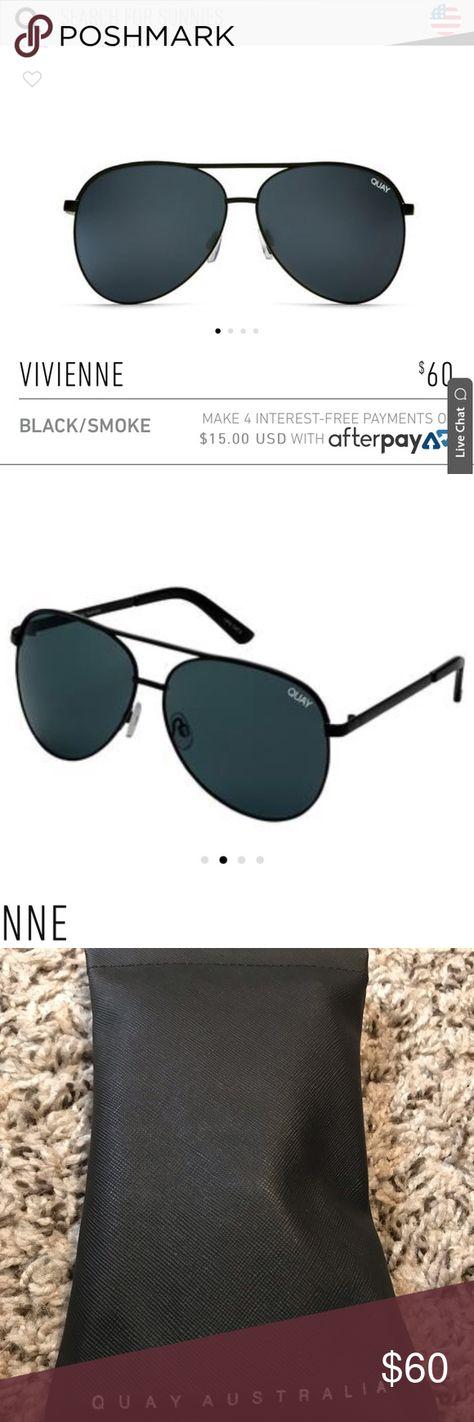 """5311341e9e QUAY Australia Sunglasses Vivienne Style in """"Black smoke"""" color. Brand new  in"""