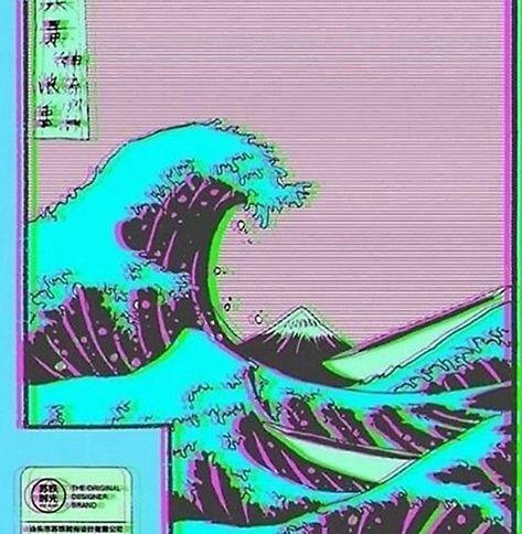 The Great Wave off Vaporwave Kanagawa Poster