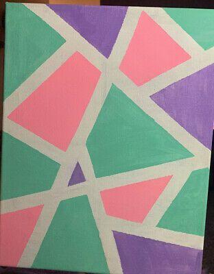 Tik Tok Painting Ideas Canvas Chanel Wall Art Geometric Art Diy Canvas Art