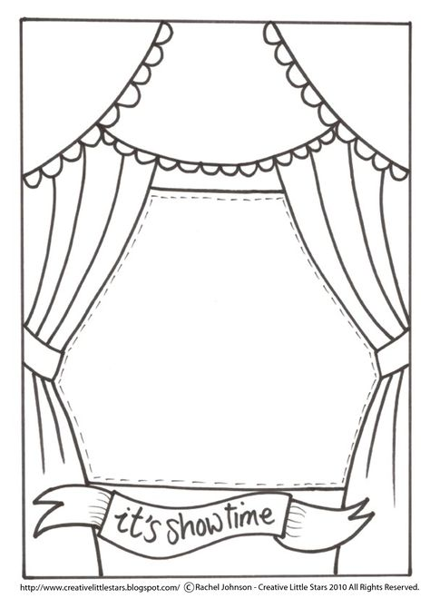Theatre Stage Coloring Pages Toddler Book