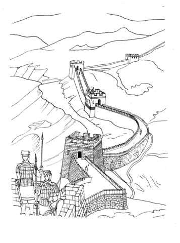 Great Wall Of China Coloring Page La Gran Muralla China Dibujos