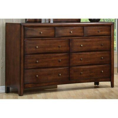 Loon Peak Borum Spacious Wooden 9 Drawer Dresser Wooden Dresser Coaster Furniture Furniture