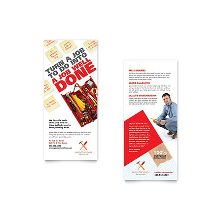 Handyman Services Flyer  Ad Template  Word  Publisher