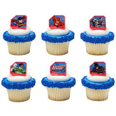 Justice League Cupcake Topper Birthday Cake Picks By BethsCakeKitShop On Etsy