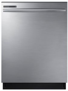 Dw80m2020us Samsung 24 Top Control Dishwasher With Adjustable Rack And Digital Leak Sensor Stainless Steel Top Control Dishwasher Dishwasher Stainless