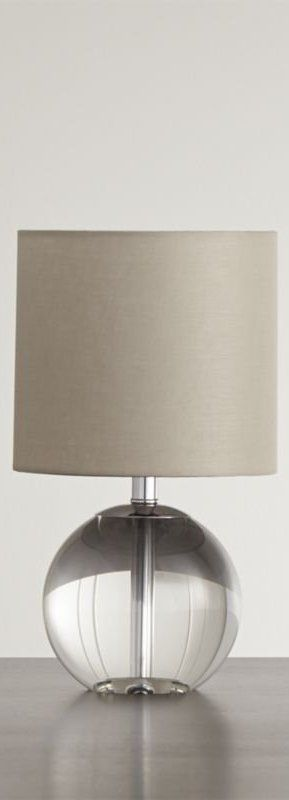 An Orb Of Clear Crystal Adds A Light Cheerful Accent To A Side Table Or Nightstand When Lit The Lamp Takes On A Warm Glow Lamp Table Lamp Floor Lamp Table