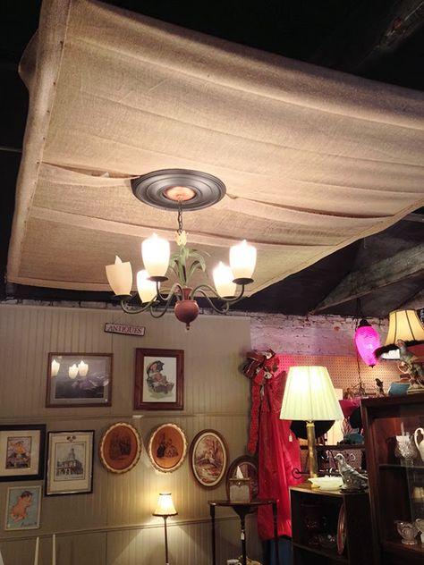 Diy Idea Burlap Ceiling The Cotton Exchange In Fayetteville Nc