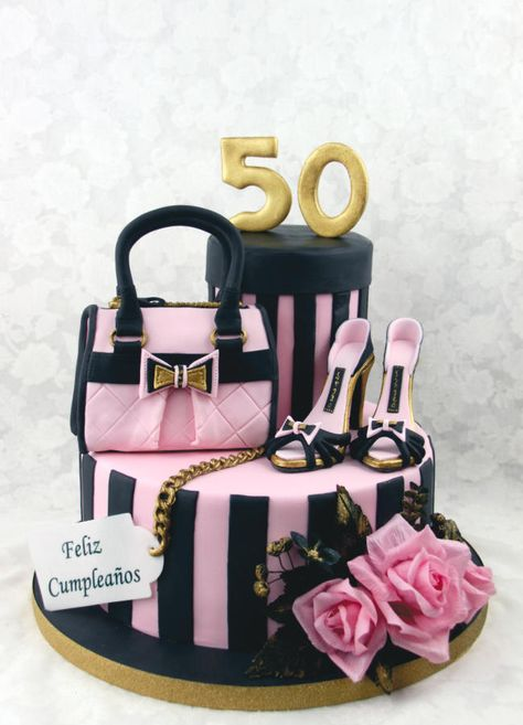 Passion for Fashion - Cake by Delicut Cakes Gucci Cake, Chanel Cake, 50th Birthday Cake For Women, Birthday Woman, 50th Birthday Cakes, Birthday Ideas, Girly Cakes, Fancy Cakes, Shoe Cakes