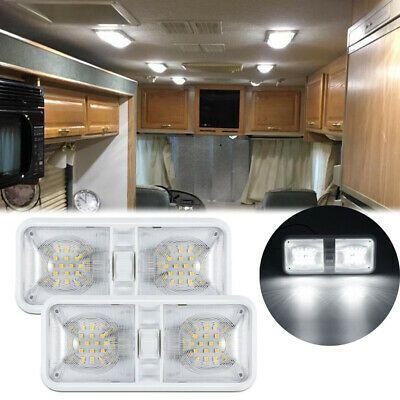 Sponsored Ebay 2x New Rv Led 12v Ceiling Fixture Double Dome Light For Camper Trailer Rv Marine Dome Lighting Ceiling Fixtures
