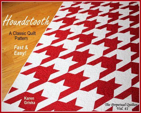 Houndstooth Quilt Pattern Modern quilt by KarenGriskaQuilts