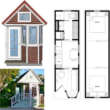 Clever 3 Portable Tiny House Floor Plans Bedroom 8x24 Tiny House Plans | Small  Home Ideas | Pinterest | Tiny House Plans, Floor Space And Tiny Houses