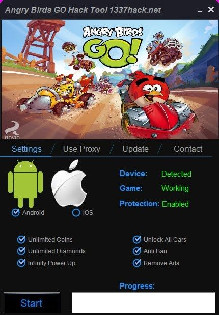 Angry Birds Go Hack Free Gems And Coins Live Proof Angry Birds