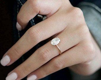 Oval Diamond Engagement Ring 1 Carat Oval Shape 18k Rose Gold Diamond Ring Oval Diamond Ring Solitaire Diamond Ring Engagement Ring In 2020 With Images Oval Diamond Engagement Ring Gold Diamond