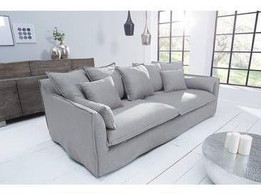Grosses Hussensofa Heaven 3 Sitzer 215 Cm Grau Leinenstoff 3er Sofa Sofa Sofa Design