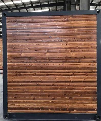 Karakoram 40 Studio Container W Surrounding Wood Features Simpleterra Container House Sliding Glass Door Wood