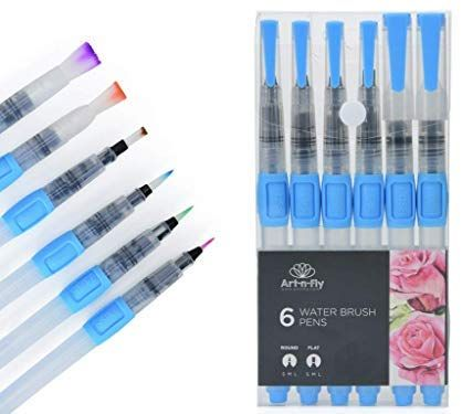 Water Brush Pen Set For Water Color Painting Watercolor Pen For