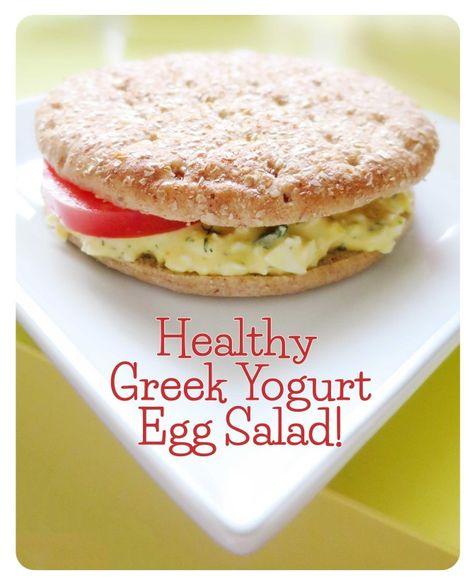 Healthy Greek Yogurt Egg Salad with Dill Recipe!