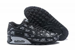 New Arrival Nike Air Max 90 Men's BlackWhite Sneakers