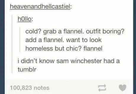 #IfSamWinchesterHadATumblr