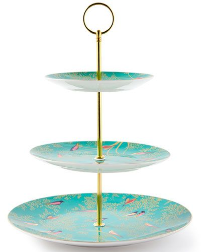 Royal Albert 40001833 Devotion Gratitude and Joy 3-Tier Cake Stand Designed by Miranda Kerr