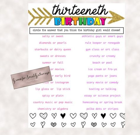 10 Things To Ask For For Your 13th Birthday Ideas Birthday 13th Birthday Birthday Party For Teens