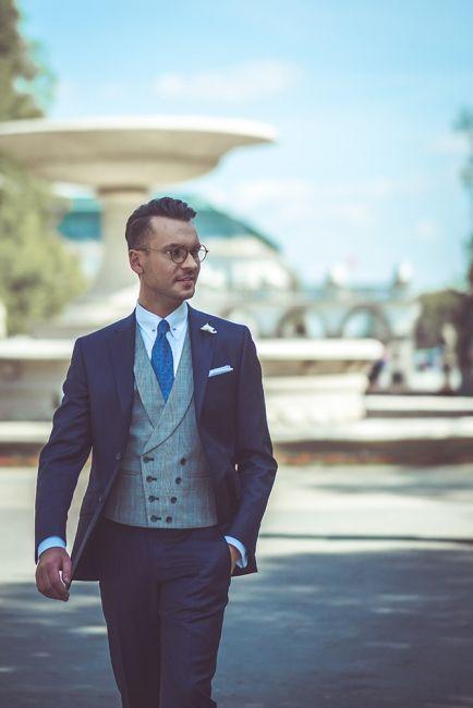 Garnitur Slubny Kamizelka Granatowy Buczynski8 Wedding Suits Wedding Suits Men Classy Men