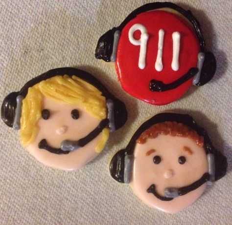 911 Dispatcher Sugar Cookies by CrowsCustomCookies on Etsy